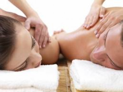 Get a massage appointment set up for you and your partner to get a same room rub down at the same time.