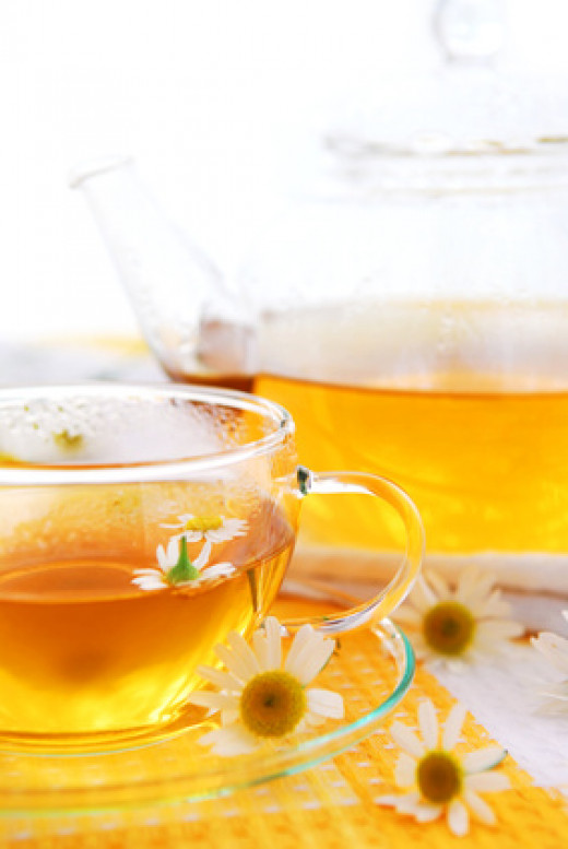 Try soothing chamomile tea for insomnia, irritability and anxiousness.