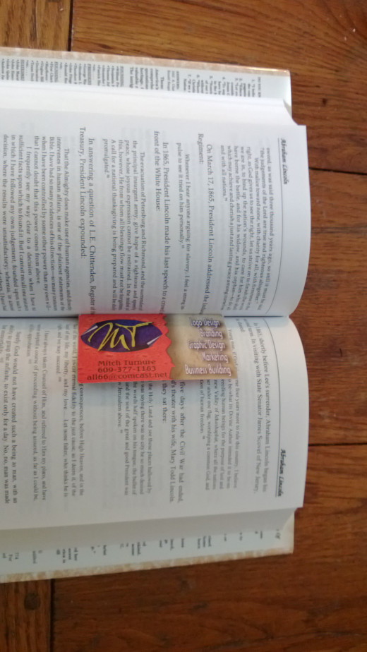Business Cards make great bookmarks, so give them to book purchasers for free with every book.