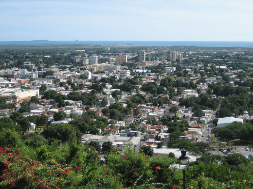 A bird's eye view of Ponce, Puerto Rico