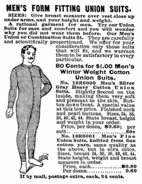 Long underwear - a precursor to the T Shirt