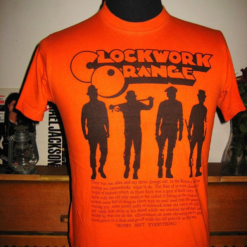 """Vintage promotional T shirt for """"A Clockwork Orange"""""""