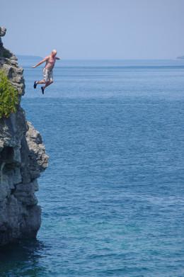 A cliff jumper.