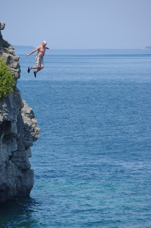 A cliff jumper.