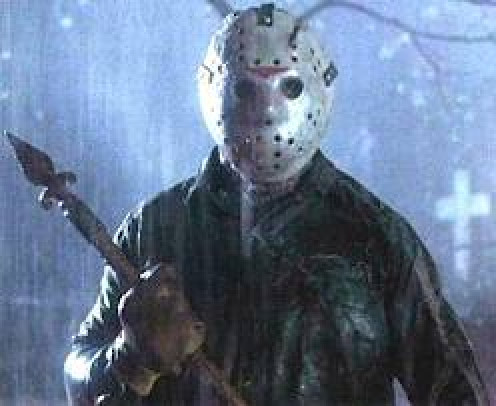 Jason Vorhees is the hockey masked killer from the Friday the 13th series. He drowned at Camp Crystal Lake.