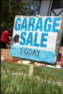 A Garage sale can help you dispose your excessive things and earn money