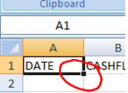 Microsoft Excel Dragbox