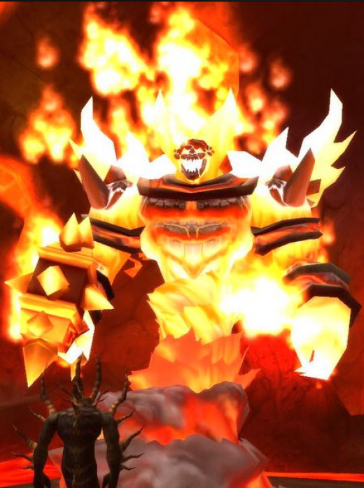 Ragnaros, the main boss of the Molten Core.