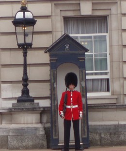 On Guard at Buckingham Palace 'front door'