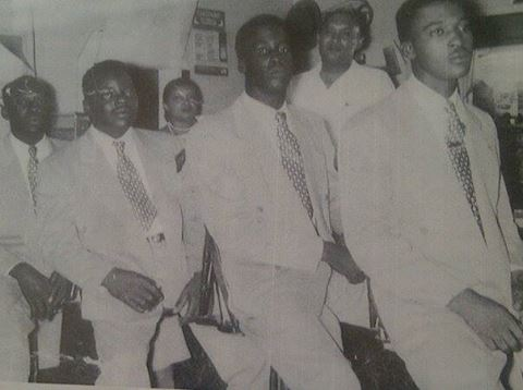 First Anniversary 1950 Left to right: R. richardson, T.C. Grant, Raymond Bennett, Floyd Bennett.  Not pictured Ruel Taylor