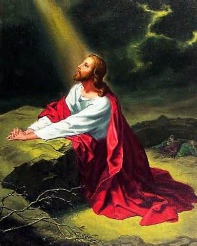 We pray and follow Jesus' example