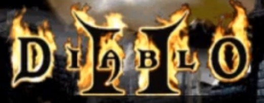 Screenshot of the logo from Diablo II.