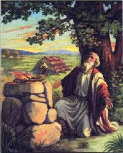 A depiction of Prophet Abraham from the Old Testament of The Holy Bible. Abraham is one of the key figures in the Holy Bible.