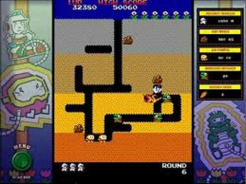 Dig Dug was released in 1982 and the main character digs tunnels through the ground eating dirt and worms.
