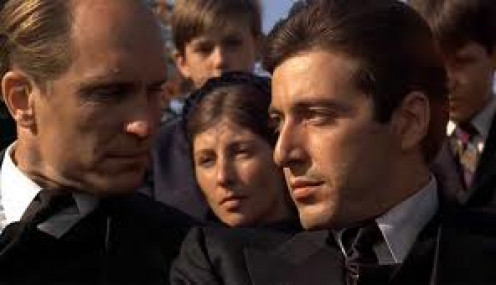 Al Pacino stars in Godfather 2 which is a film about the mafia in America. It shows the brutality of the family as well as the inner workings.