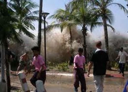 Tsunami and the destruction