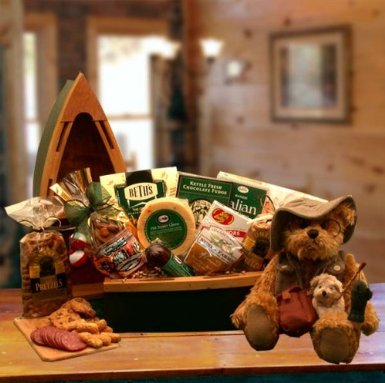 A Fishing Tale Gourmet Food and Snack Gift Basket for Fisherman -Great Gift for Dad! -Large
