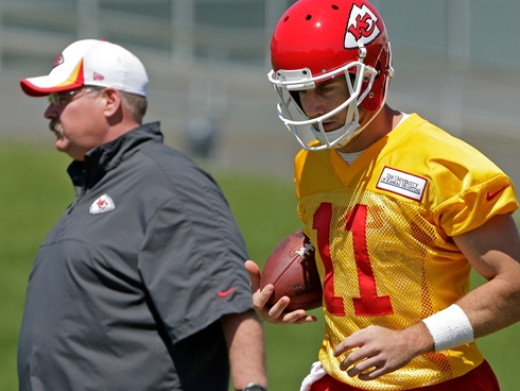 Andy Reid and Alex Smith