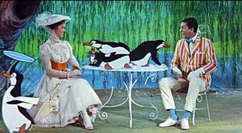 Mary Poppins was released in 1964 and it featured cartoons and humans together. An outstanding performance by all accounts and on all levels.