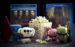 Movie night packed in a gift basket complete with popcorn, snacks, drinks and a DVD or two is a great family gift idea.
