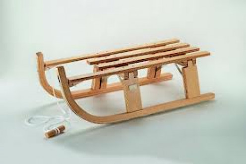 The Sled was mainly used for sliding down hills in the snow. Sometimes for fun and other times because it was necessary.