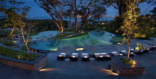 Infinity pool, vibrance of cosmopolitan Singapore, tranquility of the Sentosa Island