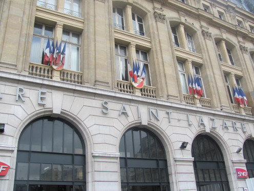 Principal frontage of Saint-Lazare Station