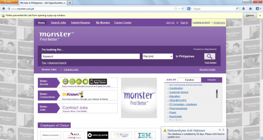 Monster.com is one of the largest employment websites in the world.