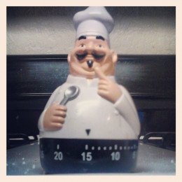 Our Trusty Little Kitchen Chef Timer Reminds Us To Check Our Delicious Chops.