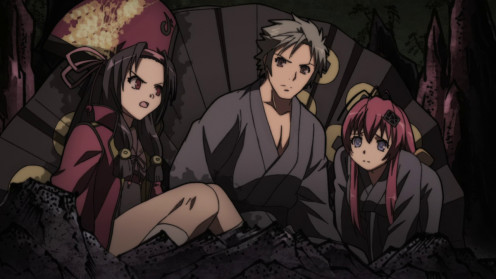 Left to right: Yukimura, Muneakira, and Jyuubei