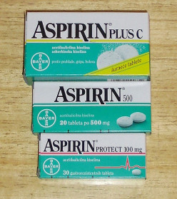 The negative side effects of the aspirin drug