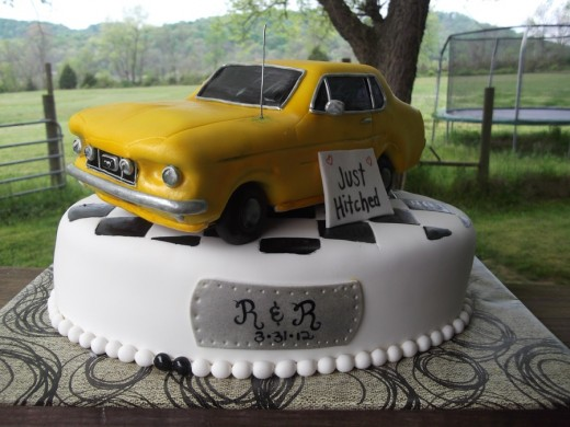 Cars Themed Grooms' Cake