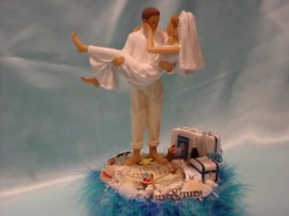 Travel Themed Grooms' Cake