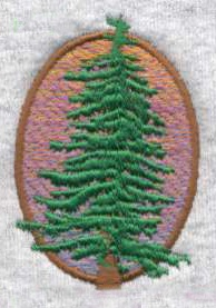 Carefully layering orange, pink, and purple threads can create a blended sunset effect with embroidery