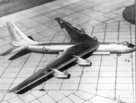 The Convair YB-60 bomber prototype