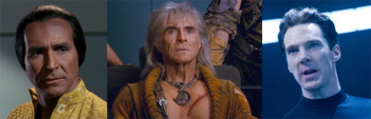 The faces of Khan Noonien Singh