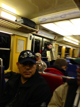Riding the Metro in Paris copyright REK