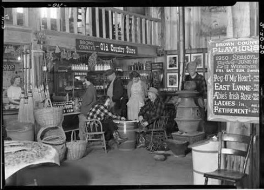 1950's General Store-People playing checkers