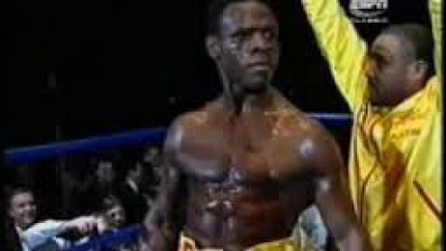 Chris Eubank, seen here staring defiantly to the crowd, is a master showman.