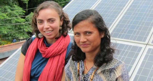Anya Cherneff with a Solar Entrepreneur