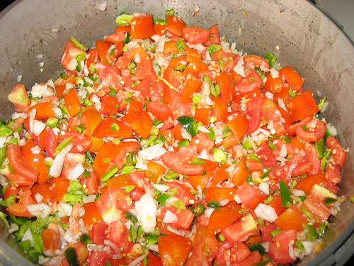 Tomato salsa by Chris Breeze on Flickr