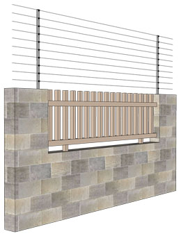 Brick/Stone Wall with Grill Installation