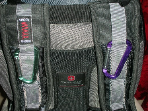 Attach points on the straps.