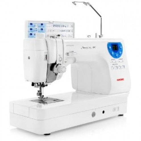 Janome MC-6300P Professional Heavy-Duty Computerized Quilting Sewing Machine w Extension Table, Walking Foot, Darning Foot