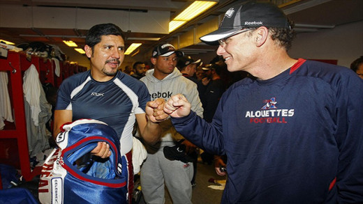 Marc Trestman and Anthony Cavillo