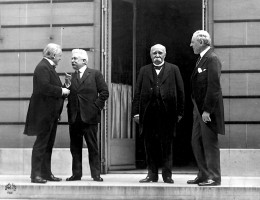 'The Big 4' - the leaders that composed the treaties in Paris
