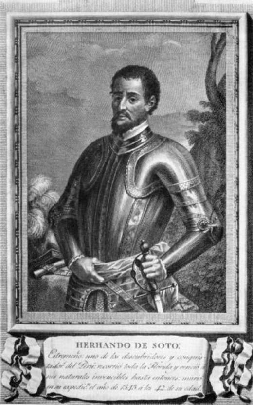 """AN OLD PORTRAIT OF HERNANDO DE SOTO (ca. 1500-1542)"