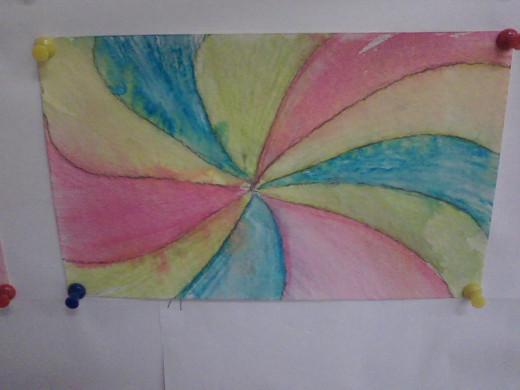 Georgia O'Keeffe inspired 5th grade art