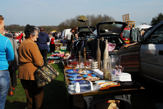 The late one car boot sale, Aylsham, Norfolk
