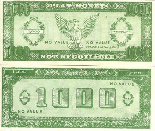Play money from mandiberg on Flickr